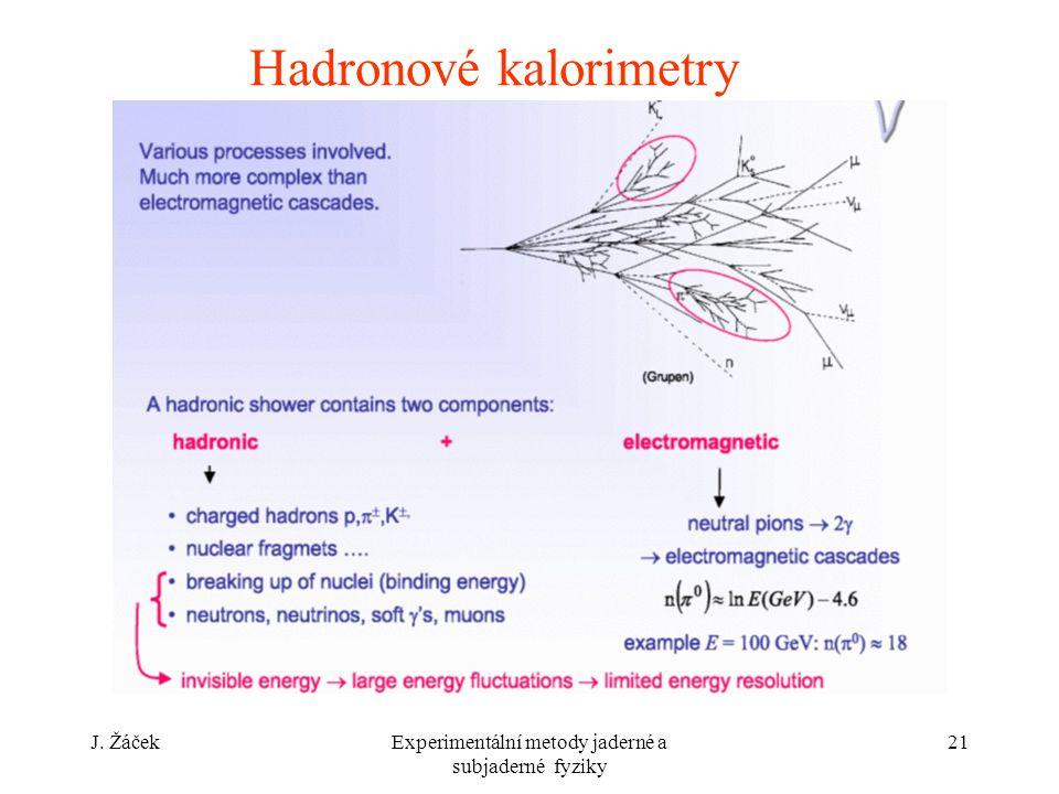 Hadronové kalorimetry