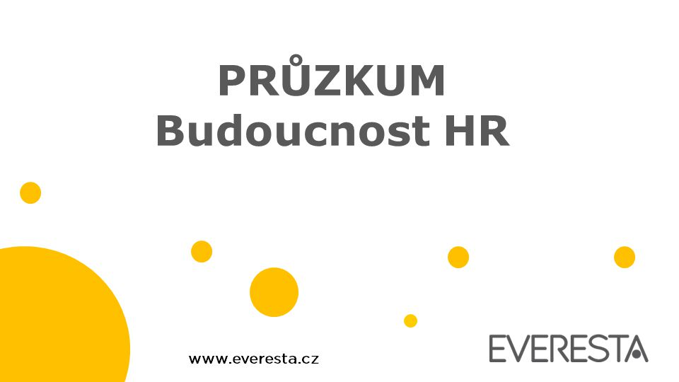 PRŮZKUM Budoucnost HR
