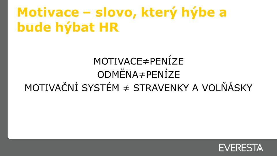 Motivace – slovo, který hýbe a bude hýbat HR