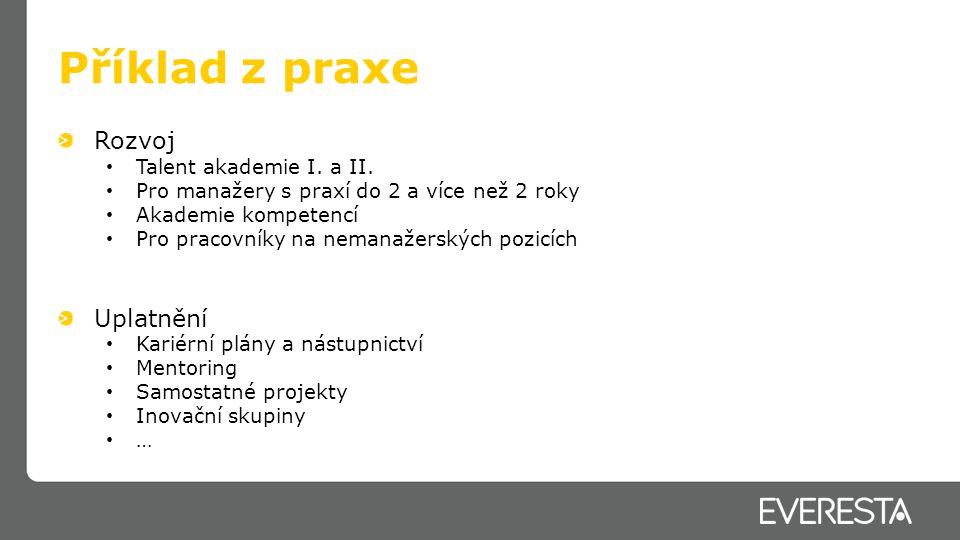 Příklad z praxe Rozvoj Uplatnění Talent akademie I. a II.