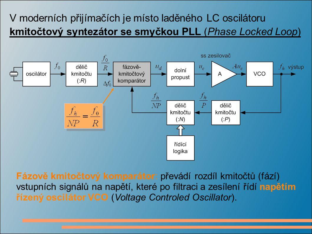 V moderních přijímačích je místo laděného LC oscilátoru