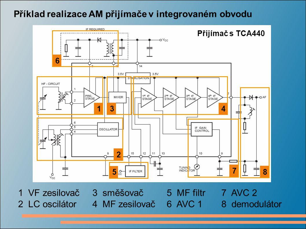 Příklad realizace AM přijímače v integrovaném obvodu