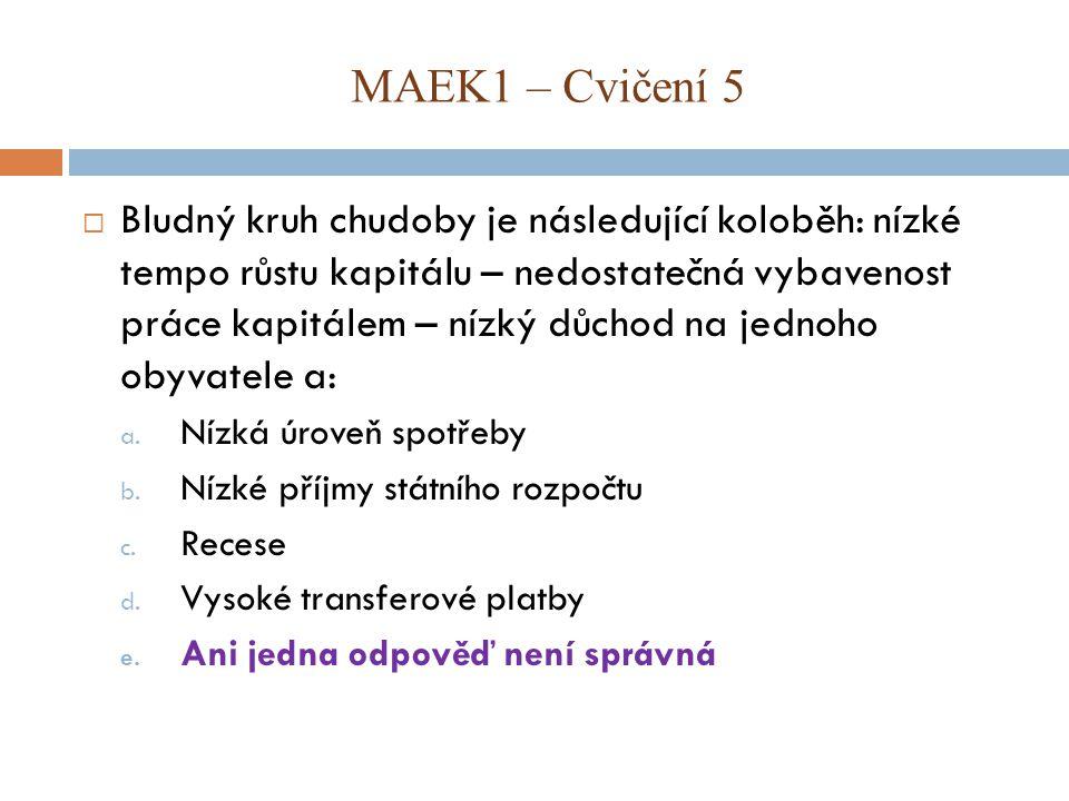 MAEK1 – Cvičení 5