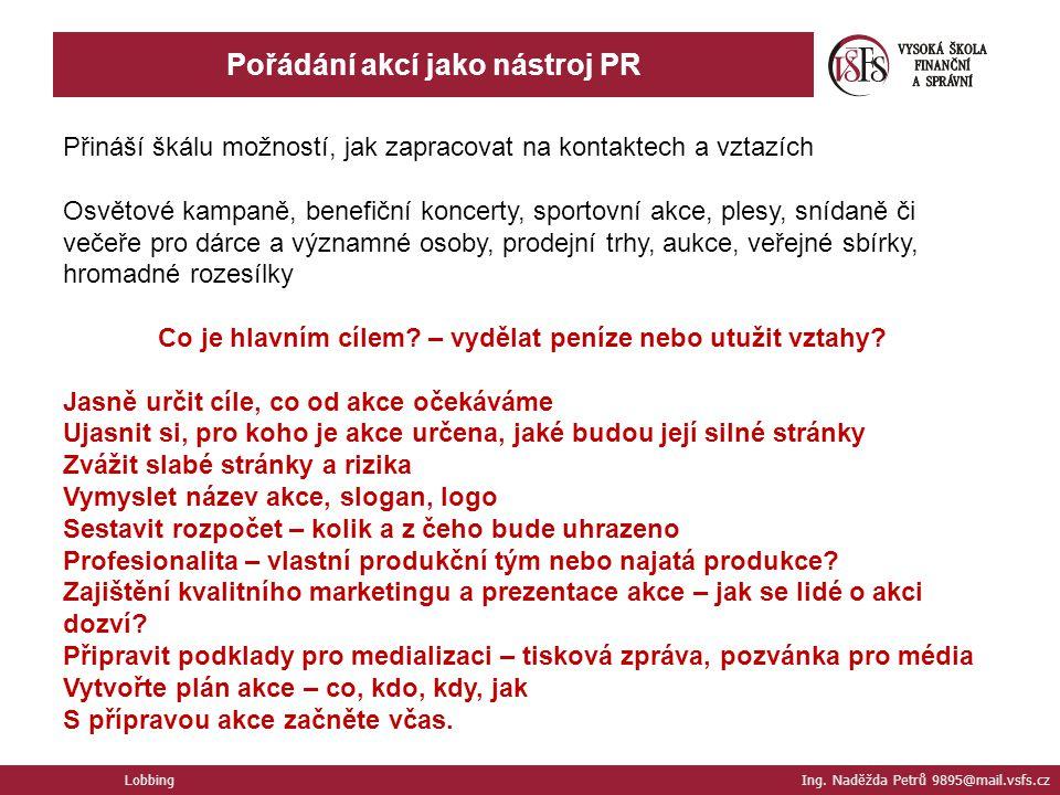 Pořádání akcí jako nástroj PR