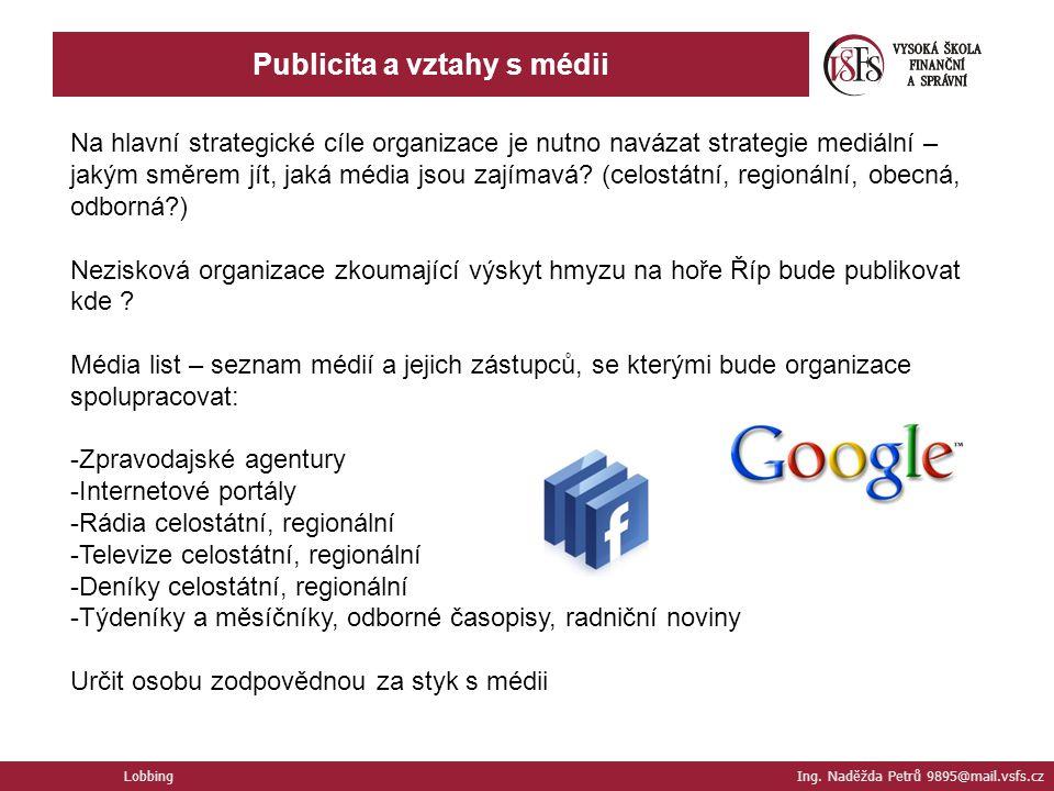 Publicita a vztahy s médii