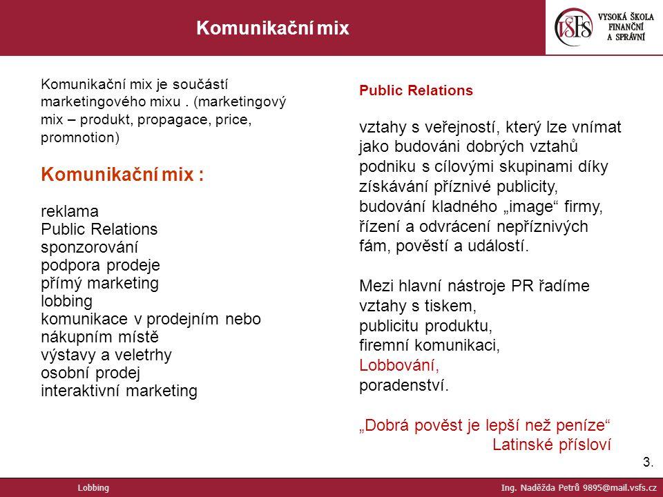 Komunikační mix Komunikační mix :