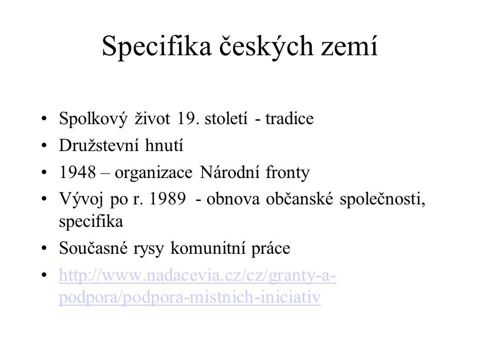 Specifika českých zemí