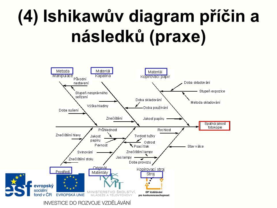 (4) Ishikawův diagram příčin a následků (praxe)