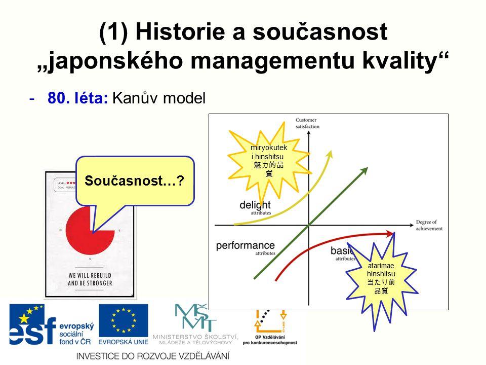 """(1) Historie a současnost """"japonského managementu kvality"""