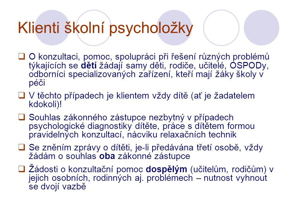 Klienti školní psycholožky