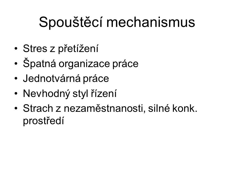 Spouštěcí mechanismus