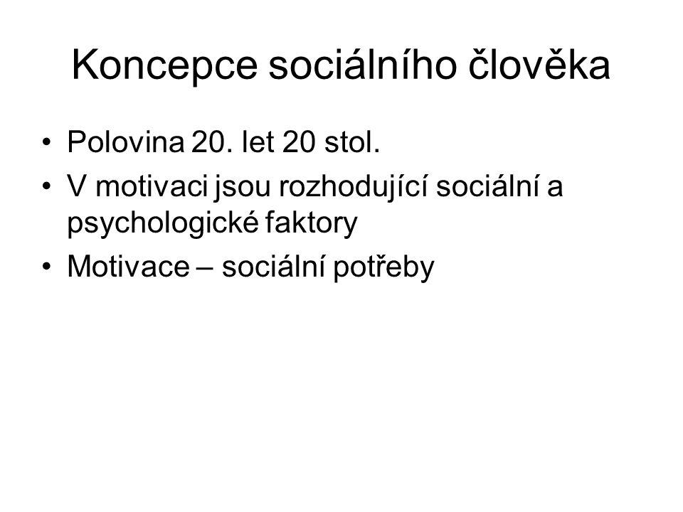 Koncepce sociálního člověka