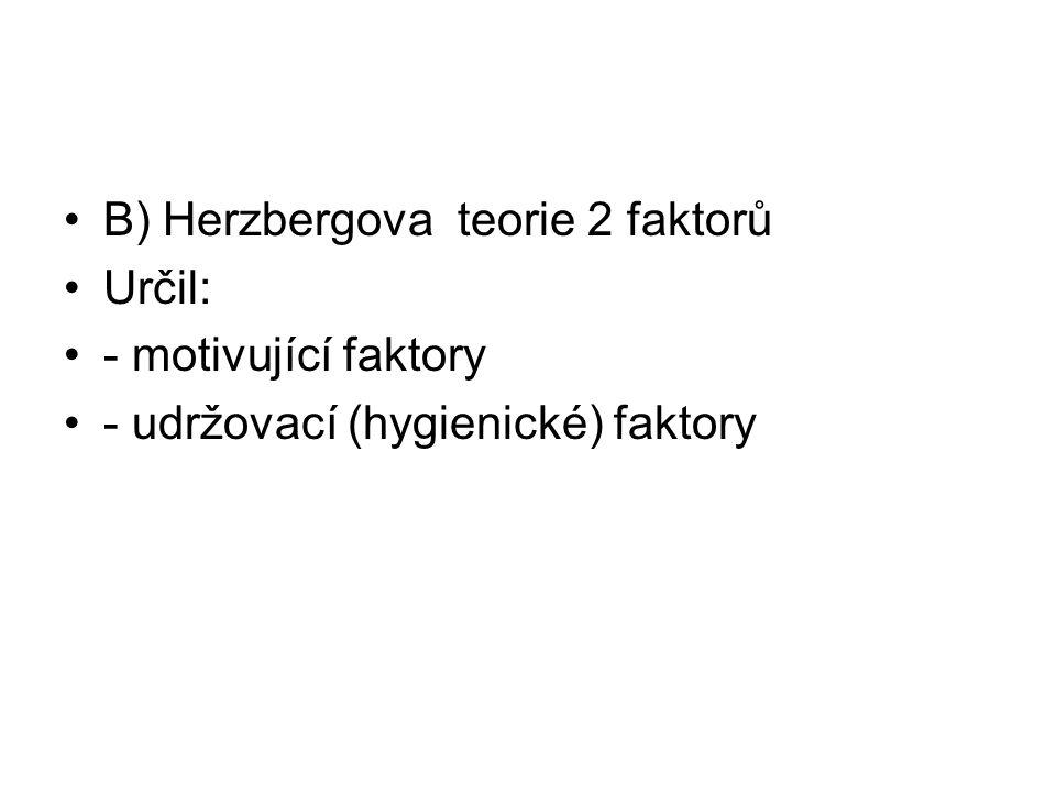 B) Herzbergova teorie 2 faktorů