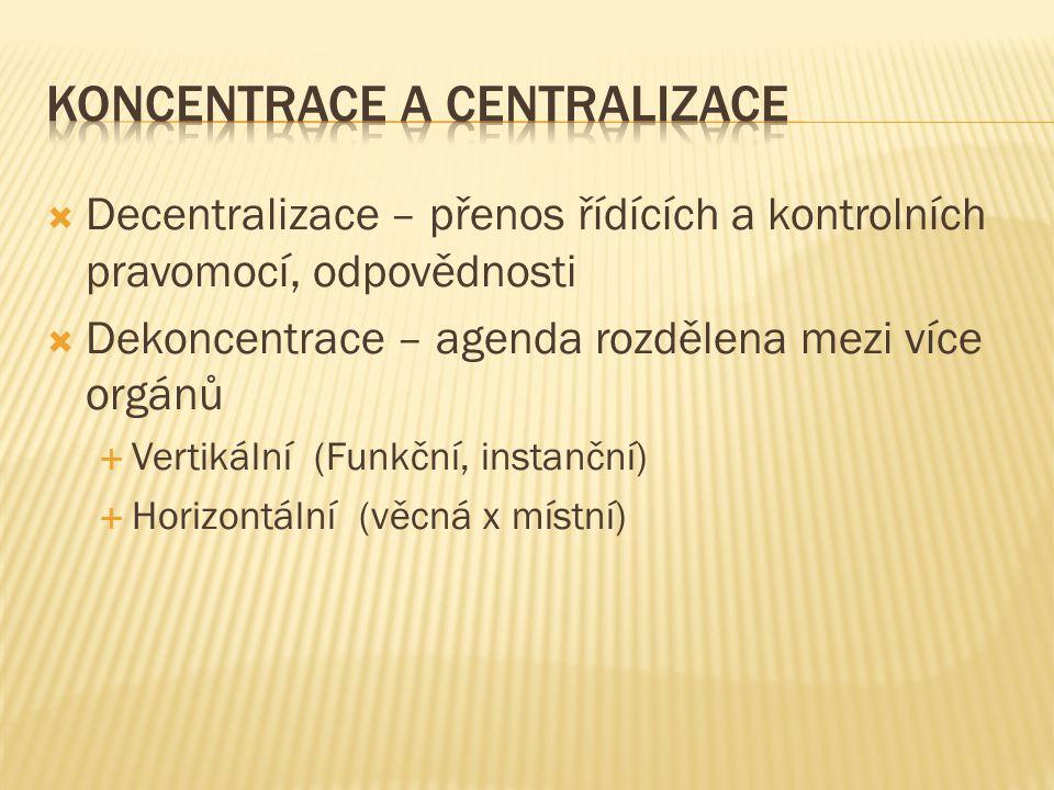 Koncentrace a centralizace