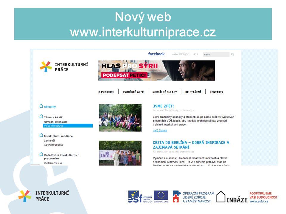 Nový web www.interkulturniprace.cz