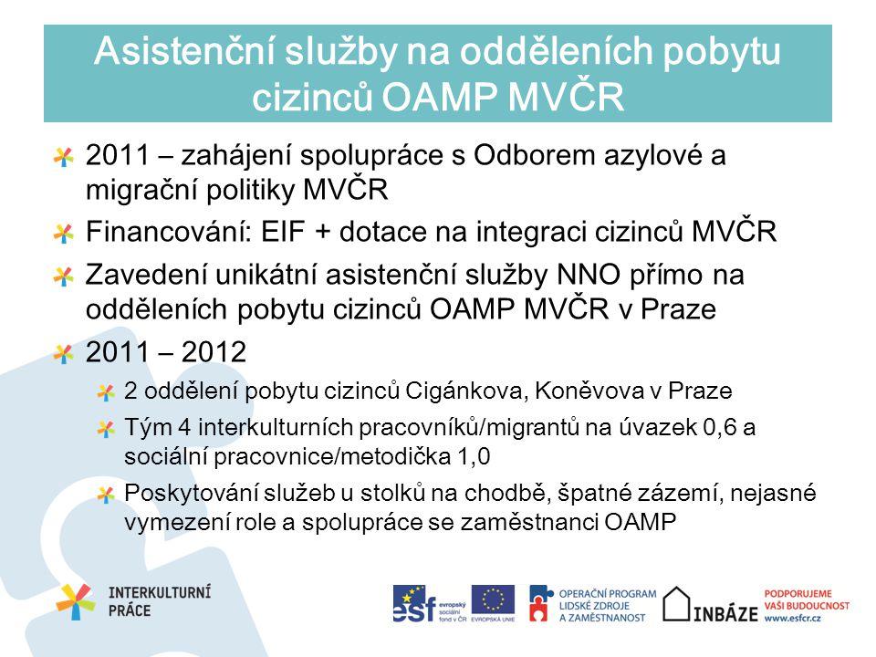 Asistenční služby na odděleních pobytu cizinců OAMP MVČR