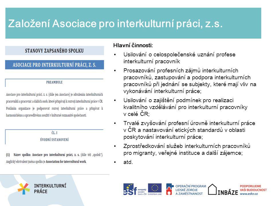 Založení Asociace pro interkulturní práci, z.s.
