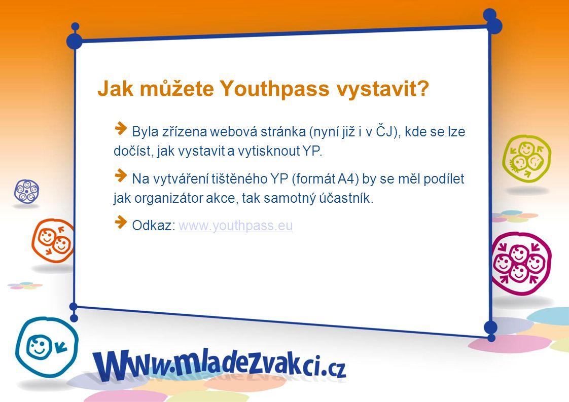 Jak můžete Youthpass vystavit