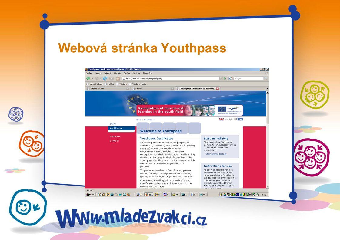 Webová stránka Youthpass