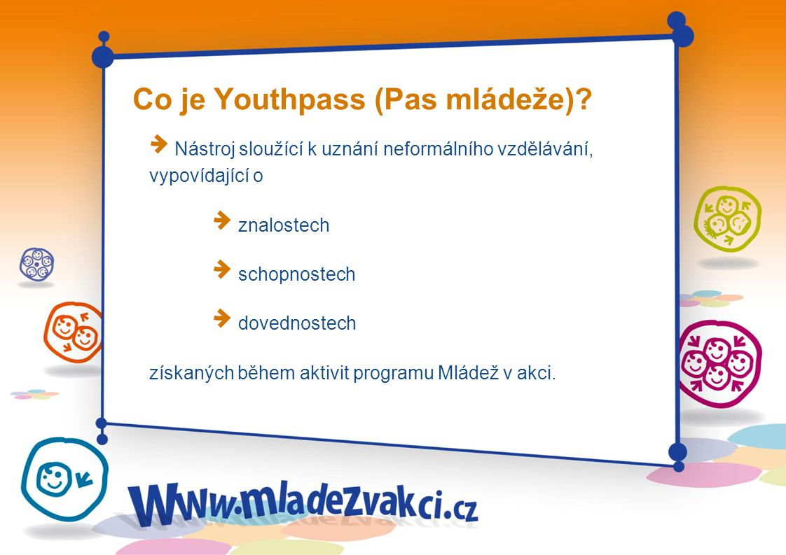 Co je Youthpass (Pas mládeže)