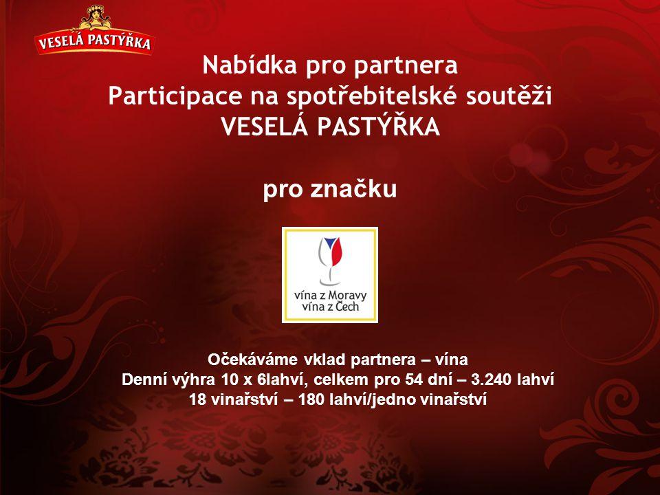 Nabídka pro partnera Participace na spotřebitelské soutěži VESELÁ PASTÝŘKA pro značku