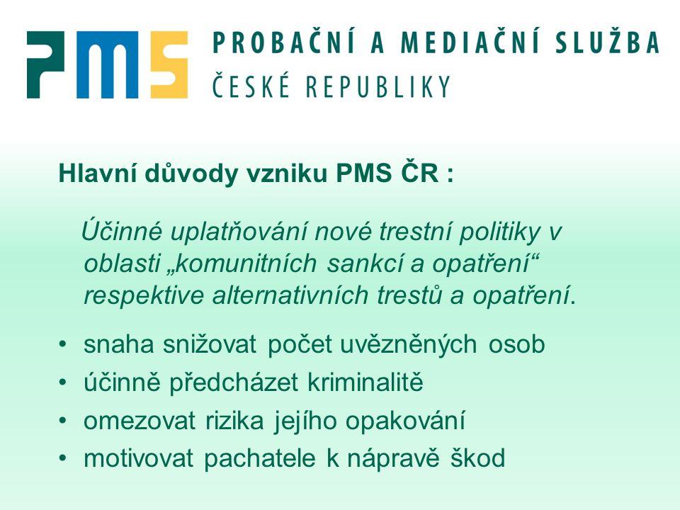 Hlavní důvody vzniku PMS ČR :