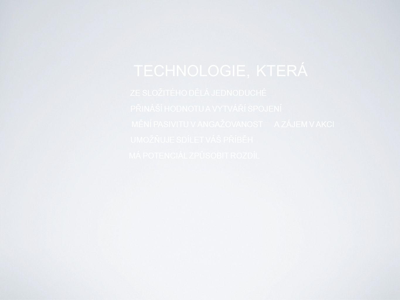 TECHNOLOGIE, KTERÁ ZE SLOŽITÉHO DĚLÁ JEDNODUCHÉ