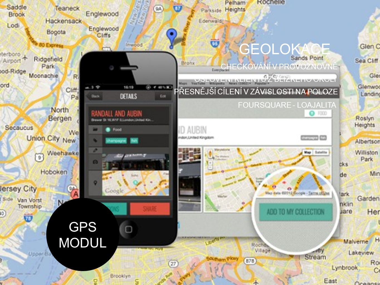GEOLOKACE GPS MODUL CHECKOVÁNÍ V PROVOZNOVNĚ