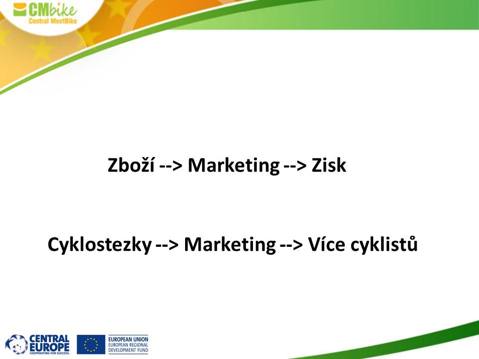 Cyklostezky --> Marketing --> Více cyklistů