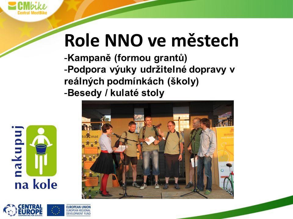 Role NNO ve městech Kampaně (formou grantů)