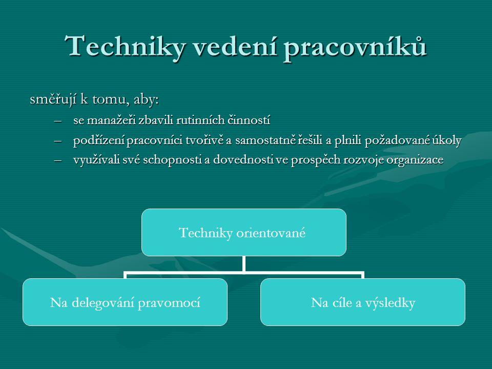 Techniky vedení pracovníků