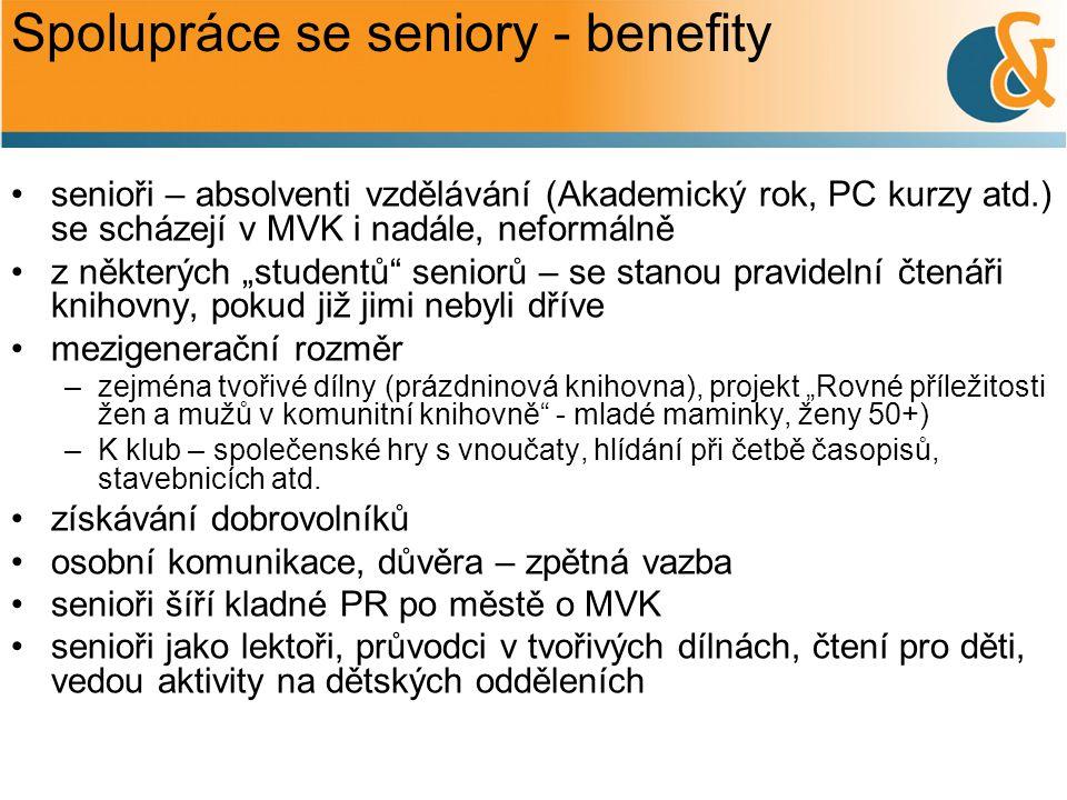 Spolupráce se seniory - benefity