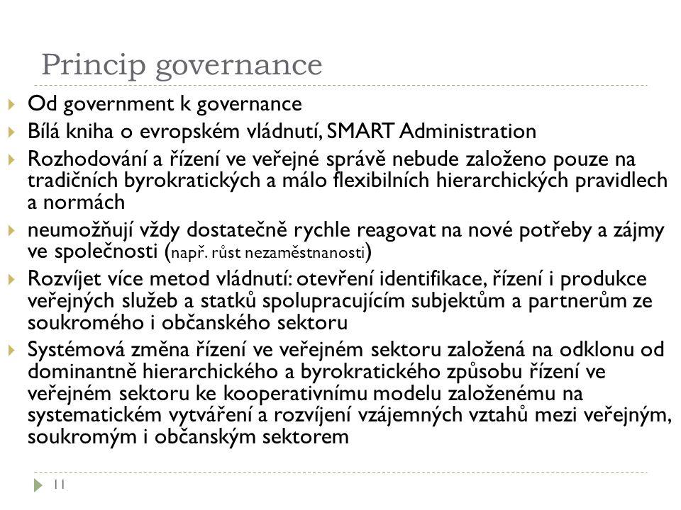 Princip governance Od government k governance
