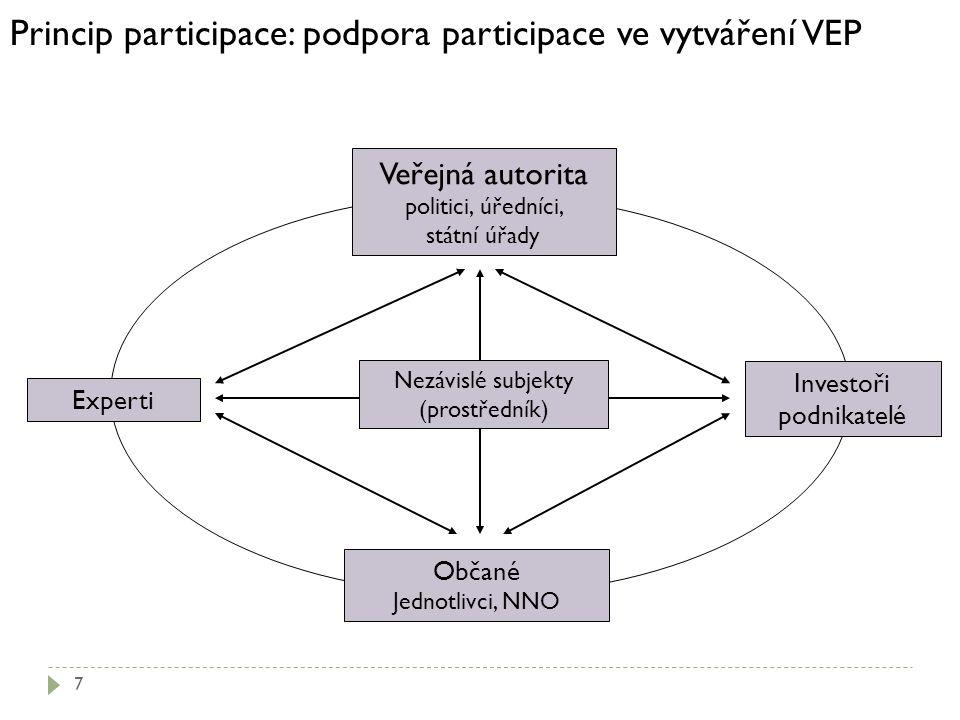 Princip participace: podpora participace ve vytváření VEP