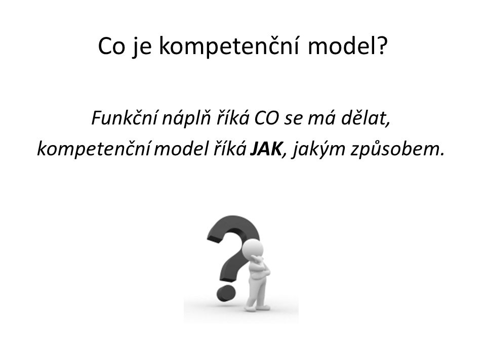 Co je kompetenční model