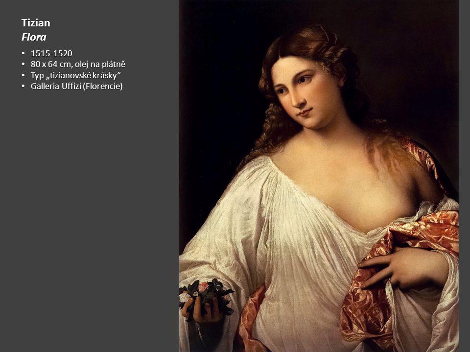 Tizian Flora 1515-1520 80 x 64 cm, olej na plátně