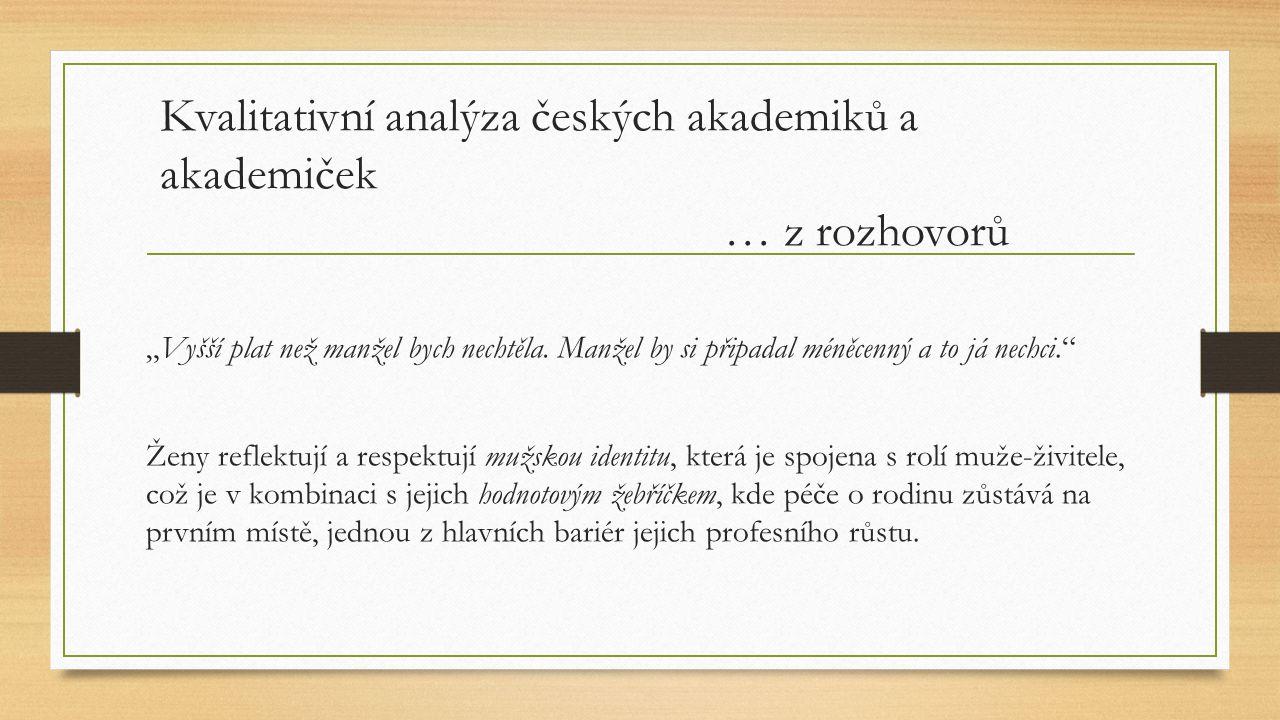 Kvalitativní analýza českých akademiků a akademiček … z rozhovorů
