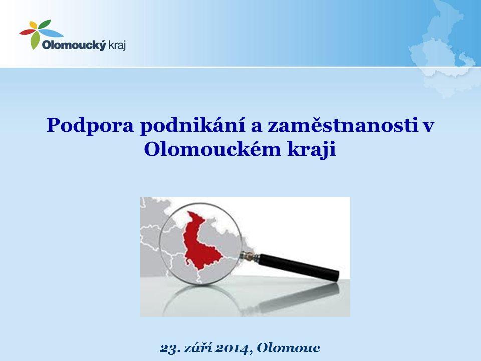 Podpora podnikání a zaměstnanosti v Olomouckém kraji
