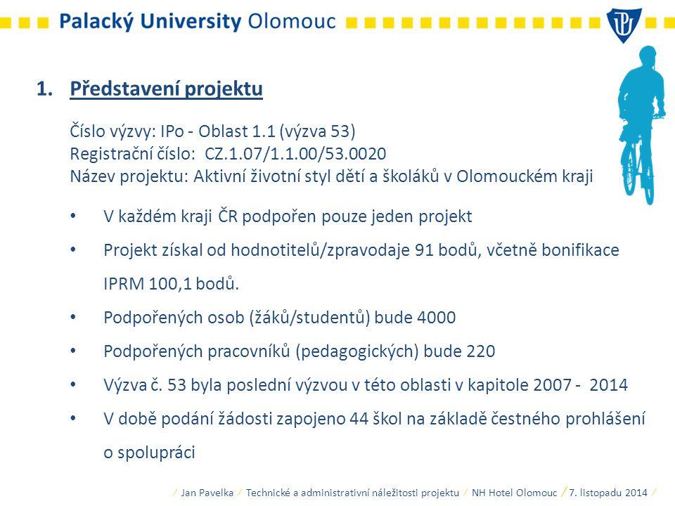 Představení projektu Číslo výzvy: IPo - Oblast 1.1 (výzva 53)