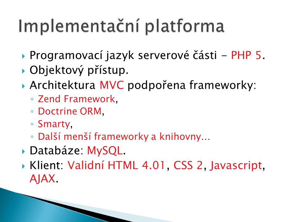 Implementační platforma