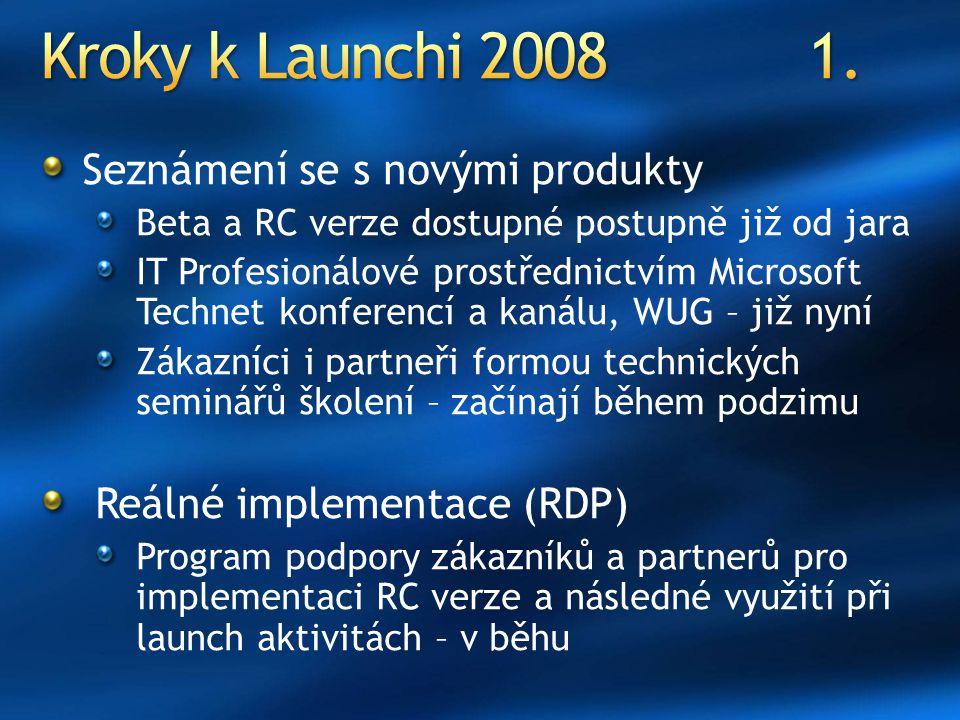 Kroky k Launchi 2008 1. Seznámení se s novými produkty