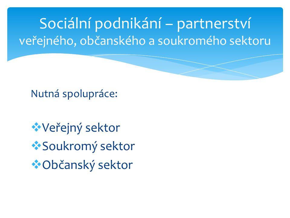 Sociální podnikání – partnerství veřejného, občanského a soukromého sektoru