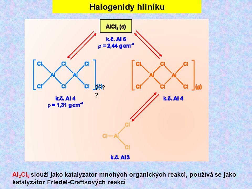 Halogenidy hliníku .