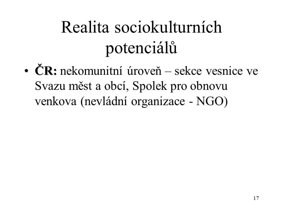 Realita sociokulturních potenciálů