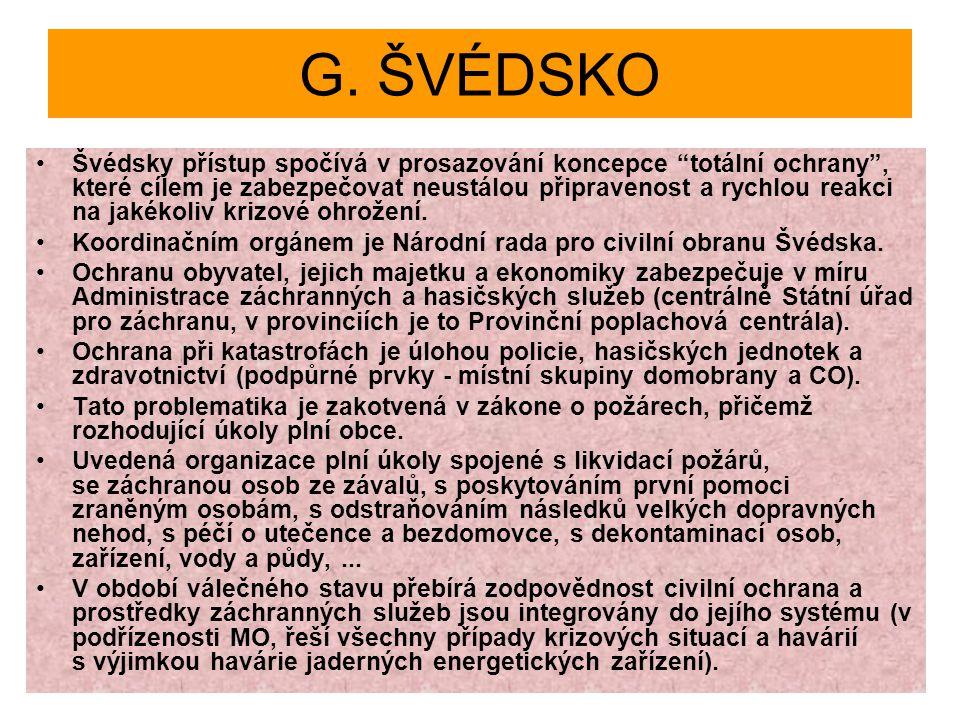 G. ŠVÉDSKO