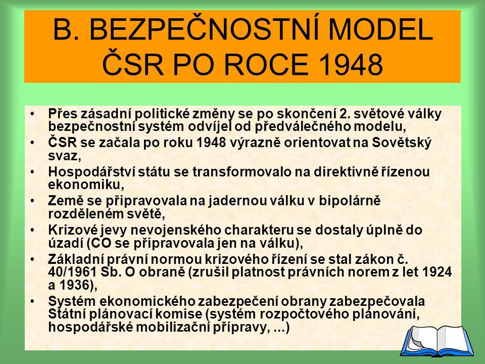 Bezpečnostný model ČSR po roku 1948: