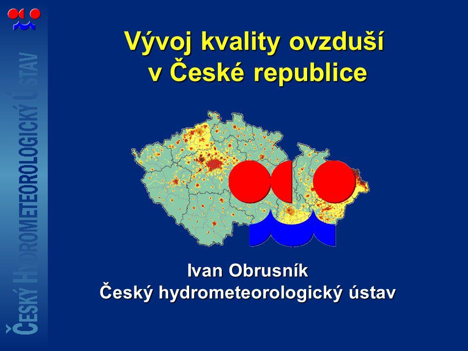 Vývoj kvality ovzduší v České republice