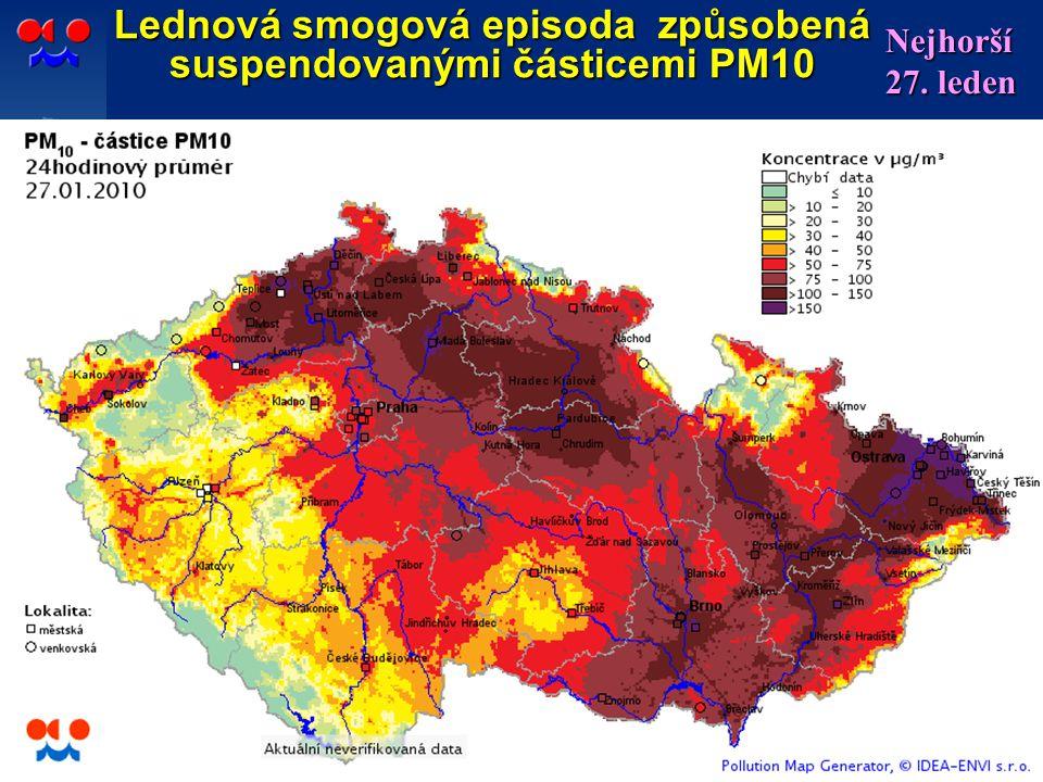 Lednová smogová episoda způsobená suspendovanými částicemi PM10