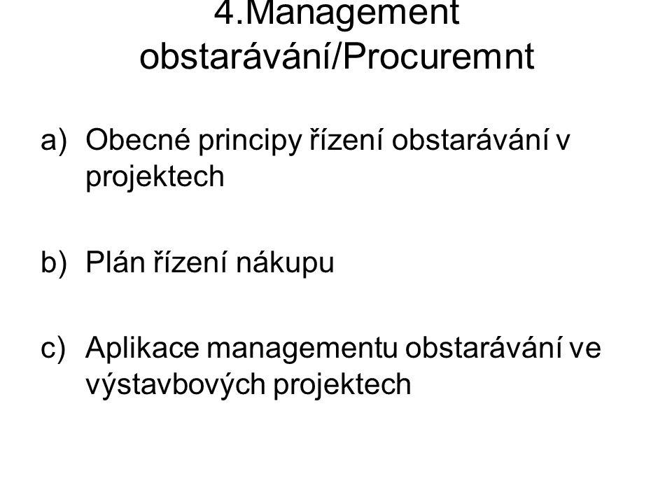 4.Management obstarávání/Procuremnt