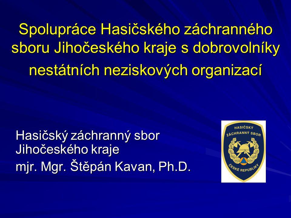 Spolupráce Hasičského záchranného sboru Jihočeského kraje s dobrovolníky nestátních neziskových organizací